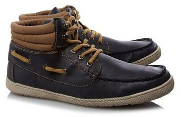 Black and Tan High Top Boat Shoes. UK Size 5