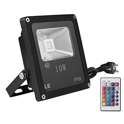 le-projecteur-rgb-a-led-10w-controle-a-distance-par-telecommande-multicolore-16-couleurs-4-modes-ecl