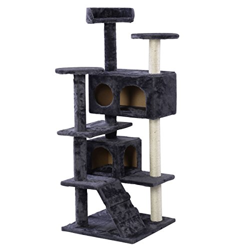 new-52-cat-tree-tower-condo-furniture-scratch-post-kitty-pet-house-play-soft-plush-gray-gray