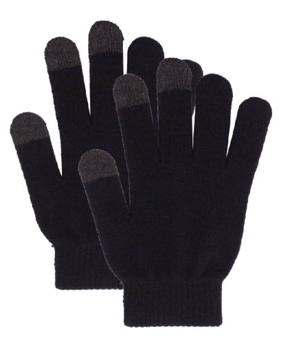 Simplicity Knitted Texting Gloves For Smartphone Iphone Ipad, Black2