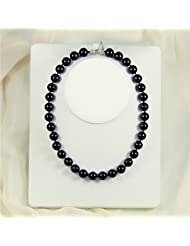 sea shell pearl necklace - black sea shell pearl necklace for woman 18 inch 12mm mk12mm075-45
