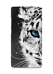 Amez designer printed 3d premium high quality back case cover for OnePlus Two (white tiger)