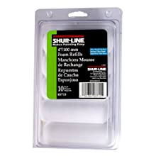 Shur-Line 03715C 4-Inch Cut Case Foam Mini Roller Refills, Contractor Pack of 10