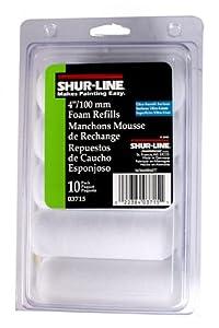 Shur-Line 03715C 4-Inch Cut Case Foam Mini Roller Refills, Contractor Pack of 10