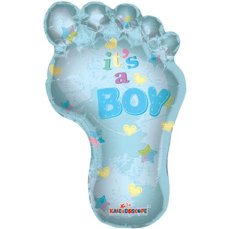 "36"""" Baby Boy Footprint Shape Balloon - 1"