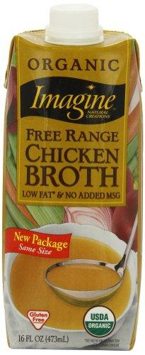 Imagine Organic Free Range Chicken Broth, 16 Ounce (Pack of 12)