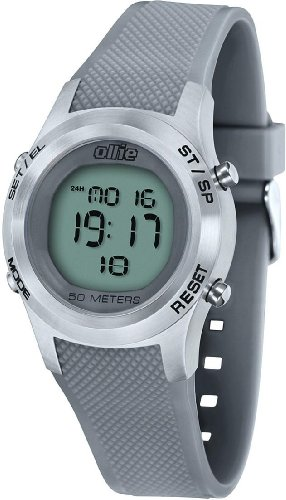 Mens Grey Digital Rubber Sport Stop Watch 37mm by Ollie Cso-a0569A-A