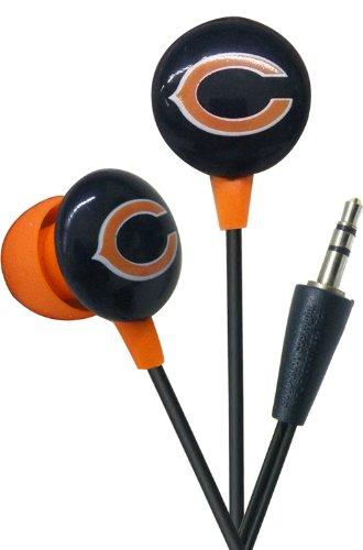 iHip NFF10200CHB NFL Chicago Bears Mini Ear Buds, Orange/Blue