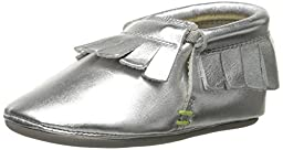 umi Bevin Crib Shoe (Infant/Toddler), Silver, 17 EU(2.5 M US Infant)