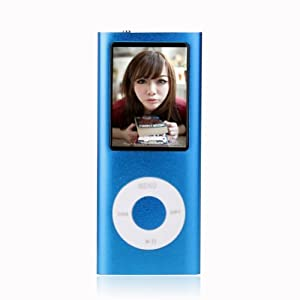 8GB 1.8''LCD Screen Blue MP4/MP3 Player Media/Music/Audio Player with FM Radio