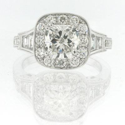 2.78ct Cushion Cut Diamond Engagement Anniversary