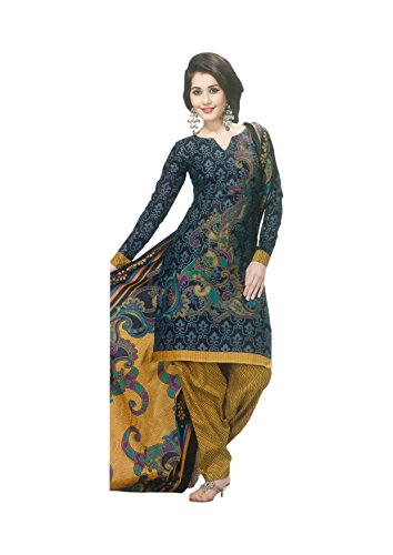 Reya Women's Printed Cotton Dress Material (9146) (multicolor)