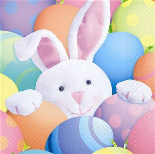 """Peek A Boo Easter Bunny Paper Tablecover - 54""""x102"""""""