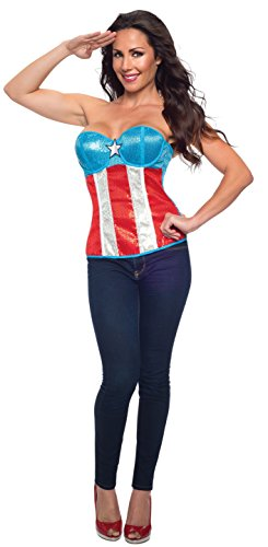 Rubie's Costume Women's Marvel Universe Adult Captain America Sequined Corset