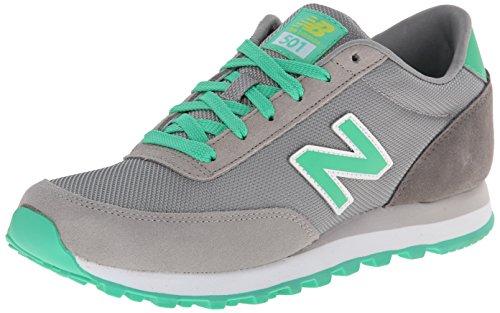 New Balance - Zapatillas, Unisex, Multicolor (Gris/verde), 40.5