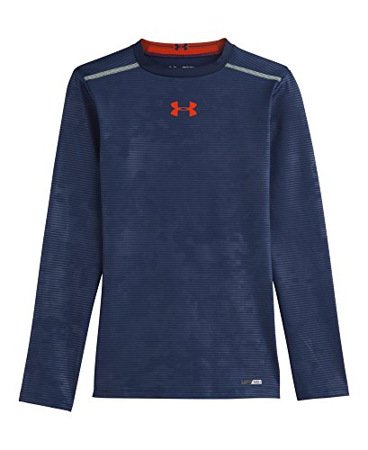 Under Armour Big Boys' Heatgear® Sonic Fitted Long Sleeve Youth Medium Deep Space Blue back-1050765