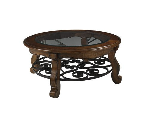 OSP Brighton Collection End Table in Walnut Finish