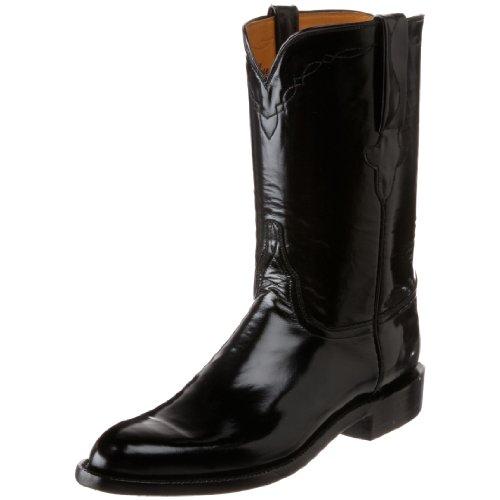 Lucchese Classics Men's L3508.RR Western Boot,Black Goat Roper,7 D US