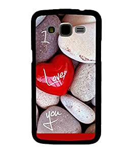 printtech I Love You Stones Back Case Cover for Samsung Galaxy J7::Samsung Galaxy J7 J700F