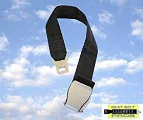 """Airplane Seatbelt Extender (7-24"""") - FITS ALL AIRLINES (except Southwest) - FREE Carry Case!"""