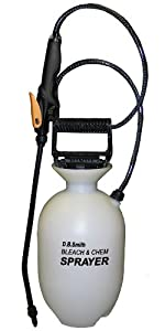 Smith 190285 1-Gallon Bleach & Chemical Sprayer With Non-Corrosive 15-Inch Wand and Single Nozzle System