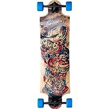 "Landyachtz Tornado Time Machine Complete Downhill Longboard Skateboard - 10"" x 36.25"""