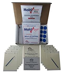 moldcheck mold test kit 10 tests per kit multiple air sampling tests simple visual comparison. Black Bedroom Furniture Sets. Home Design Ideas