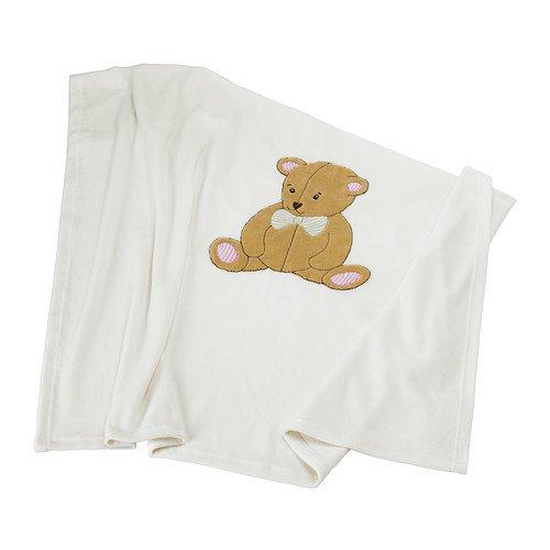 "Ikea Brumbjorn Baby Blanket with Bear 35"" x 35"""