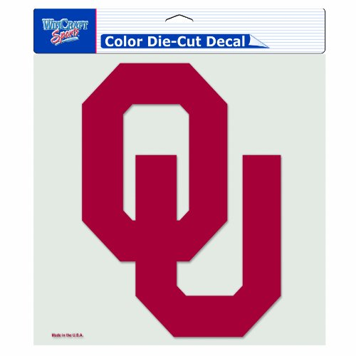 NCAA Oklahoma Sooners 8-by-8 Inch Diecut Colored Decal