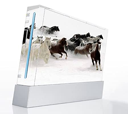 Horse Power Decorative Protector Skin Decal Sticker for Nintendo Wii Console