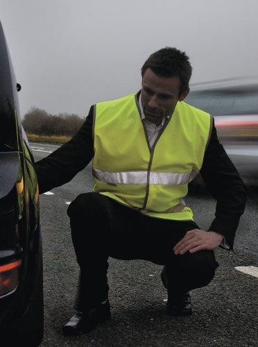 Mens Result Motorist Safety Vest Medium Hi Vis Orange