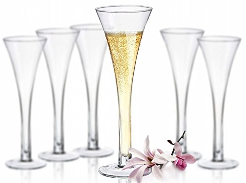 6 Verres à Champagne Rio - Verre soufflé bouche