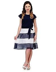 ROCKLAND LIFE Women's Dress (RCL4019D01M_Blue_Medium)