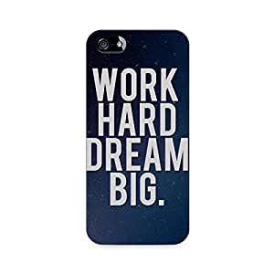 Mobicture Work Hard Premium Printed Case For Apple iPhone 4/4s