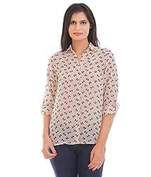 VAAK Women's Printed Shirt 100% Polyester(M)