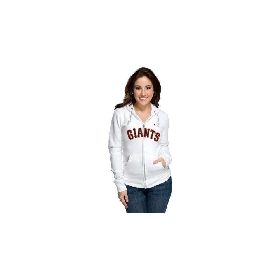 San Francisco Giants Womens Nike White Classic Full Zip