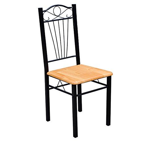 Sedie cucina pranzo soggiorno set 4 sedie legno metallo - Tavolo cucina con sedie ...