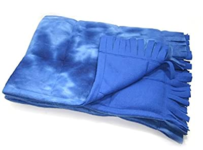 "Medium Fringed Weighted Blanket (8 Lb - 36x54"") - Sensory Tool, Special Needs Aid, Provides Pressure Like a Hug"