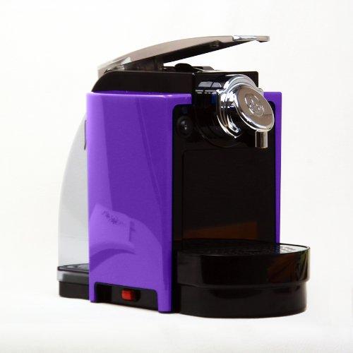 moderne espressomaschine violett chrom f r e s e pad. Black Bedroom Furniture Sets. Home Design Ideas