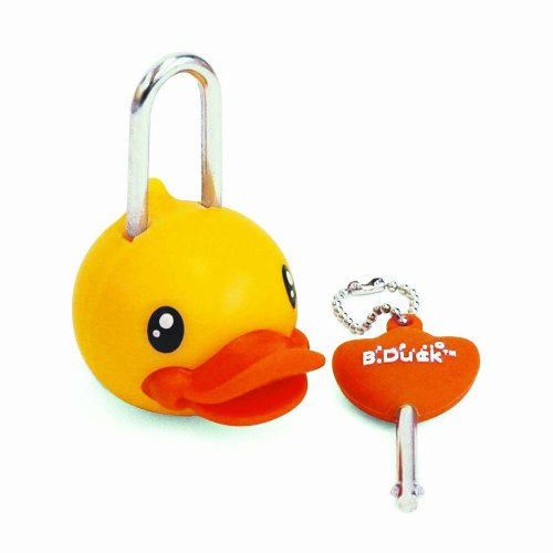B.Duck Mini Lock and Key Set, Yellow