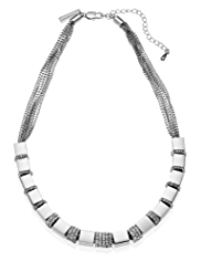 Autograph Sparkle Square Diamanté Necklace