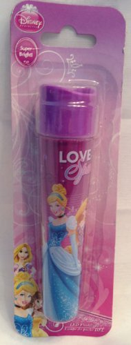 DISNEY Princess LED FLASHLIGHT Featuring * Cinderella * Bell * Rapunzel * - 2 X AAA BATTERIES INCLUDED - BRAND NEW - 1