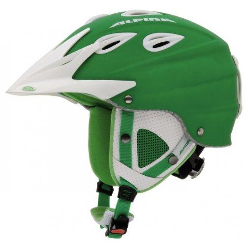 ALPINA Erwachsene Skihelm Grap Cross grün grün 54-57 Inch
