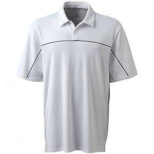 Adidas 2014 Men's Climacool Graphic Diagonal Piped Polo Shirt (White/Black - L)