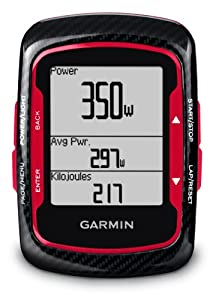 Garmin Edge 500 GPS Bike Cycling Computer with Heart Rate Monitor and Cadence Sensor - Red
