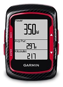 Garmin Edge 500 GPS Bike Computer with Heart Rate Monitor and Cadence Sensor - Red/Black