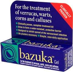 Bazuka Gel Treatment of Verrucas, Warts, Corns 5g