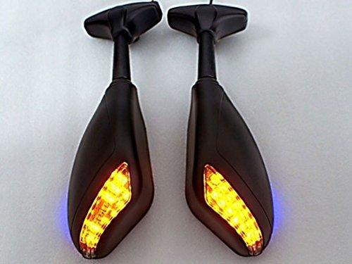 New Matt Black LED Turn Signals Integrated Mirror for Honda CBF CBR600RR CBR1000 (Honda Cbr600rr Parts compare prices)