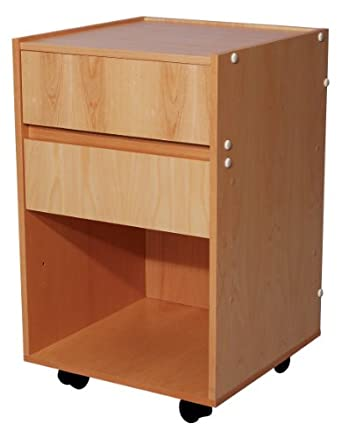 "3B Scientific W15140 Wood Multi-Purpose Treatment Cabinet with 2 Drawer, 17-51/64"" Length x 17-19/32"" Width x 28-19/64"" Height"