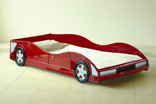 Boys Bed Red Racing Car Frame + Lucy Mattress